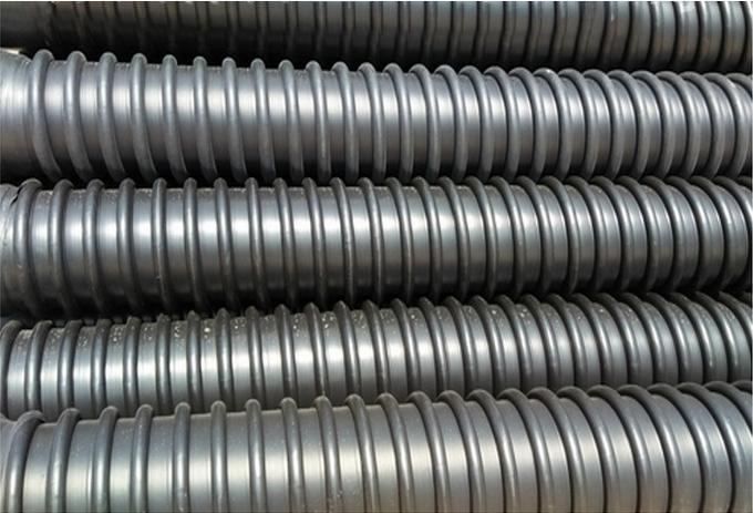 HDPE高密度聚乙烯增强缠绕B型克拉管 排水排污B型波纹克拉管直销