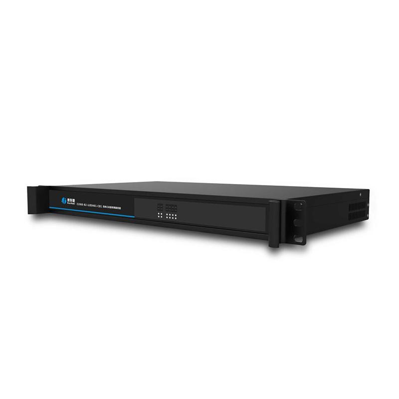 机架式四串口服务器 四口RS232/485/422转以太网 串口网口互转转换器 1U机柜串口服务器
